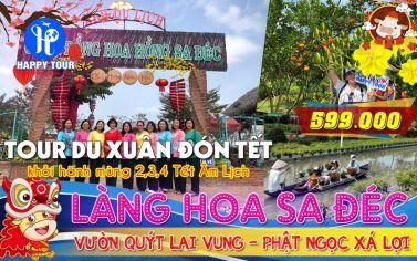 TOUR LÀNG HOA SA ĐÉC - QUÝT HỒNG LAI VUNG 1 NGÀY