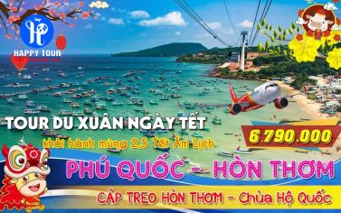 TOUR PHÚ QUỐC - CÁP TREO HÒN THƠM 3 ngày 2 đêm - LH